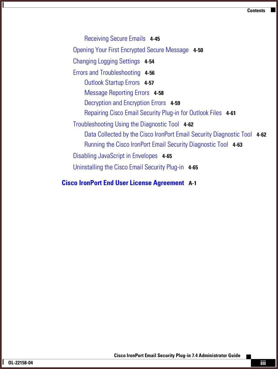Cisco Registered Envelope Service Outlook Plugin