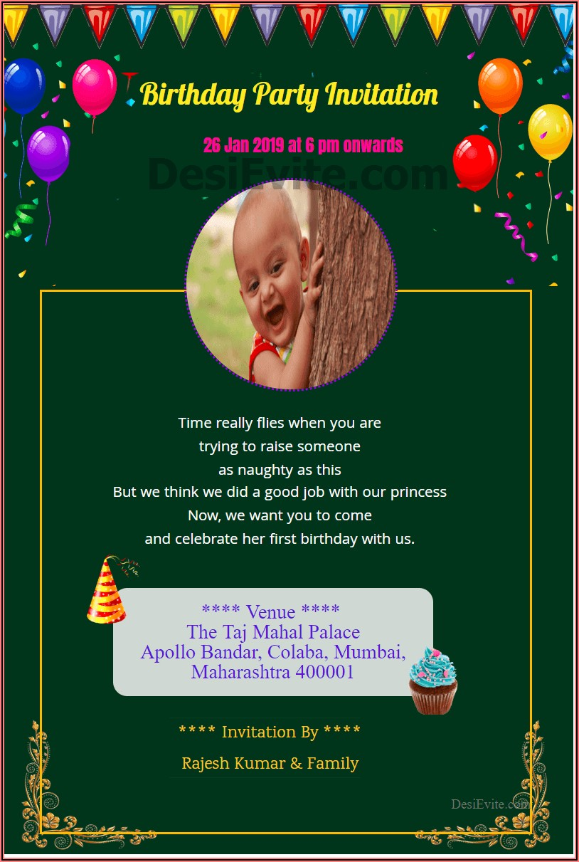 Create A Printable Birthday Invitation Online For Free