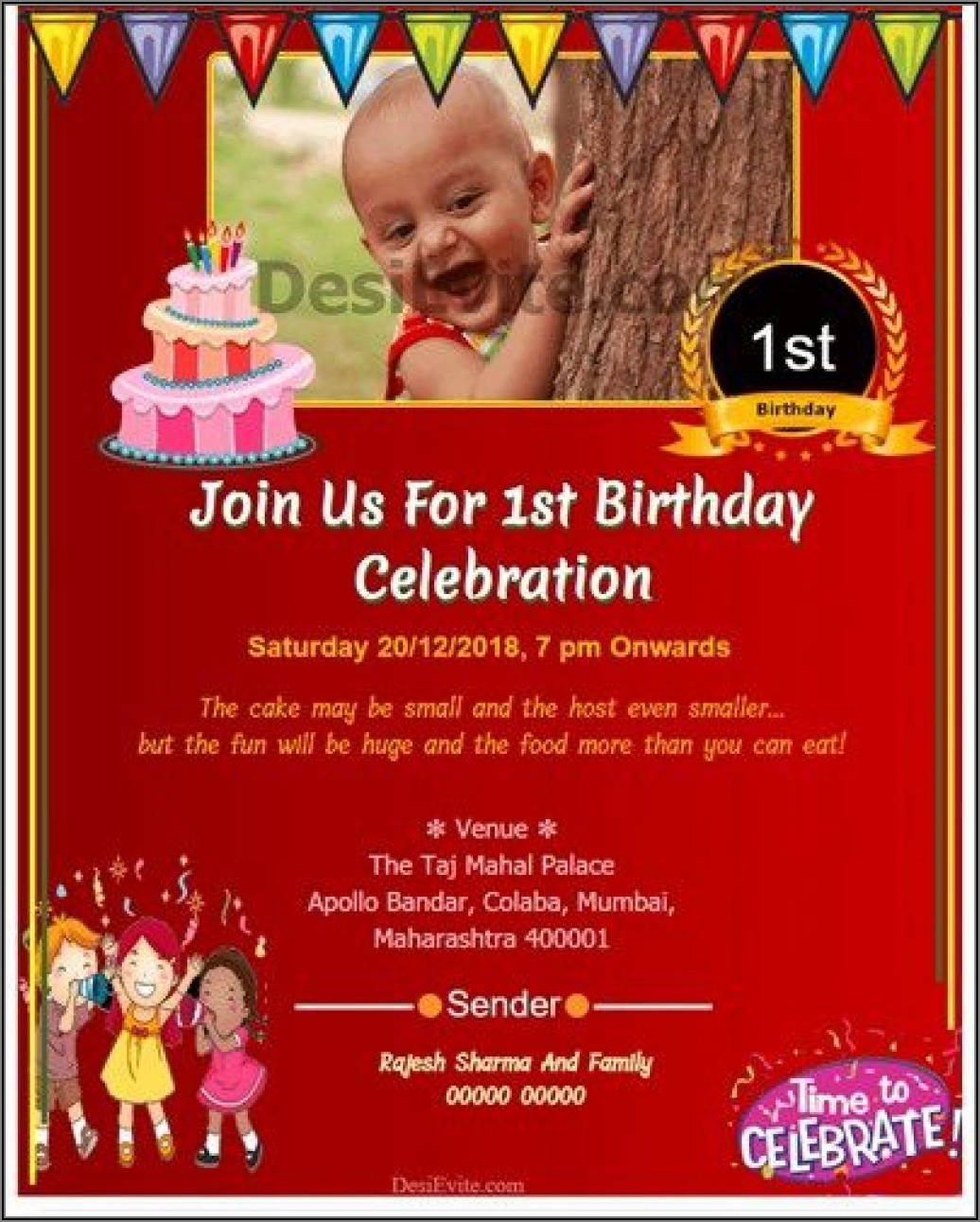 Create Birthday Invitation Card Online Free Download
