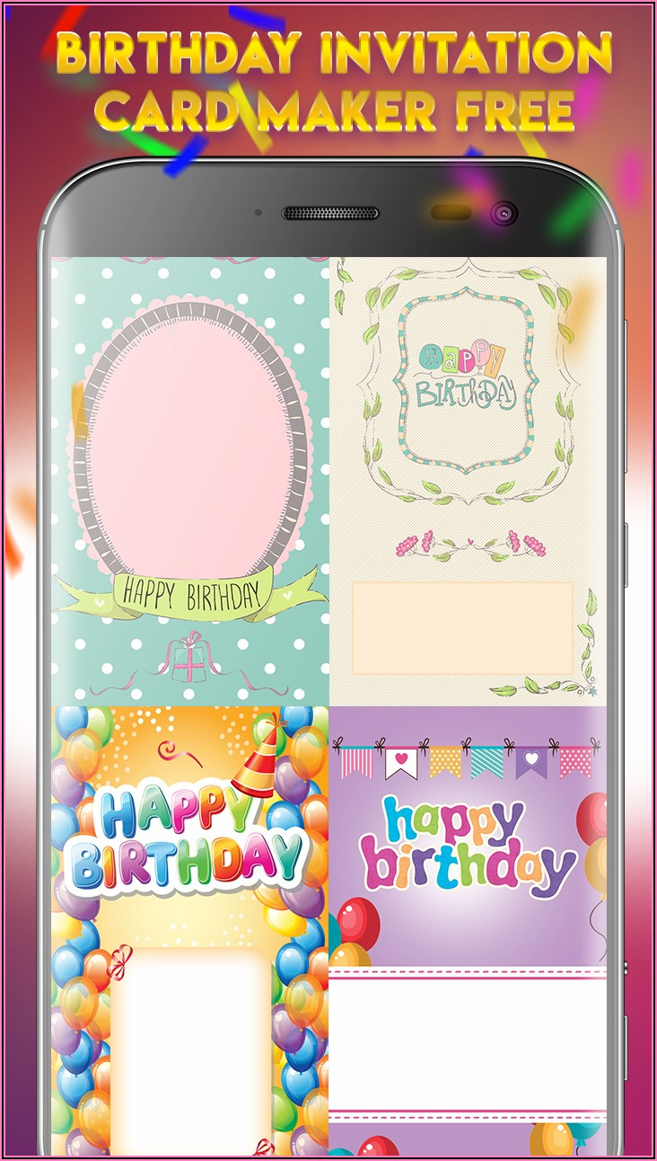 Create Birthday Invitation Card With Photo Free App