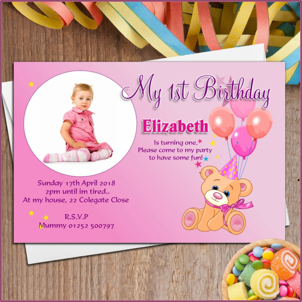 Create Birthday Invitation Card With Photo Free India