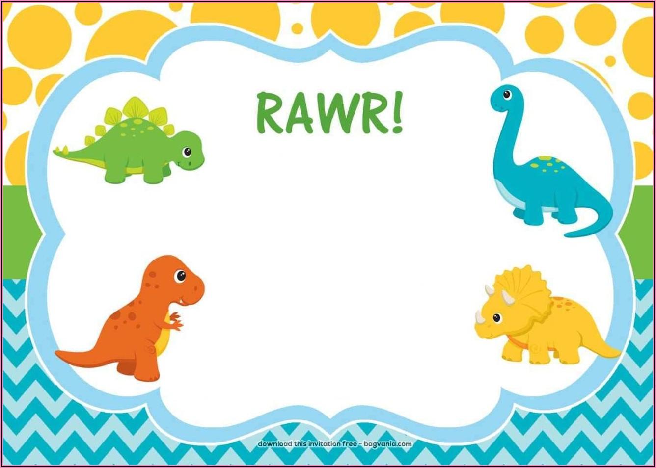 Create Dinosaur Birthday Invitation Card With Photo Free