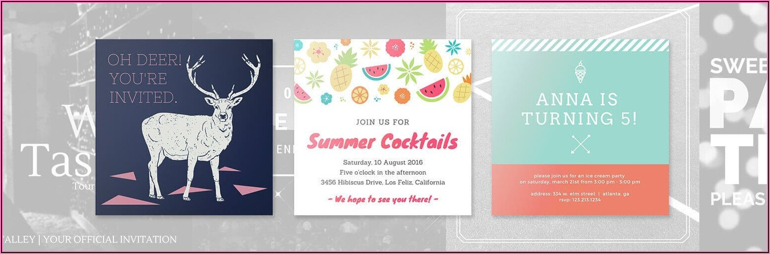 Create My Own Invitations Online Free