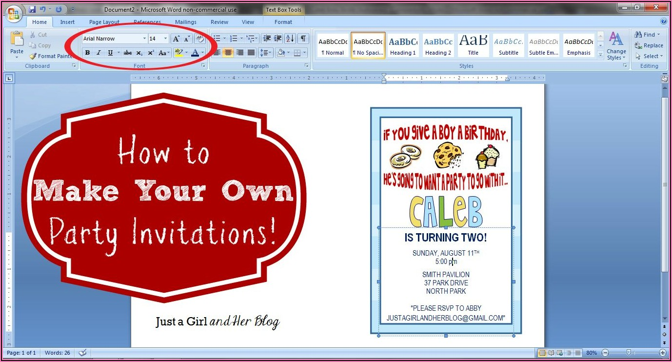 Create Your Own Party Invitations Free Online