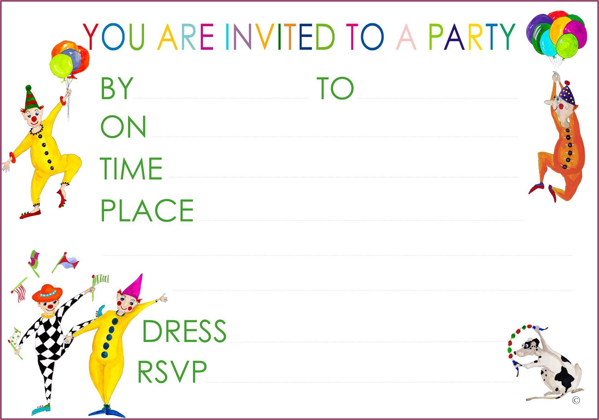 Create Your Own Party Invitations Free