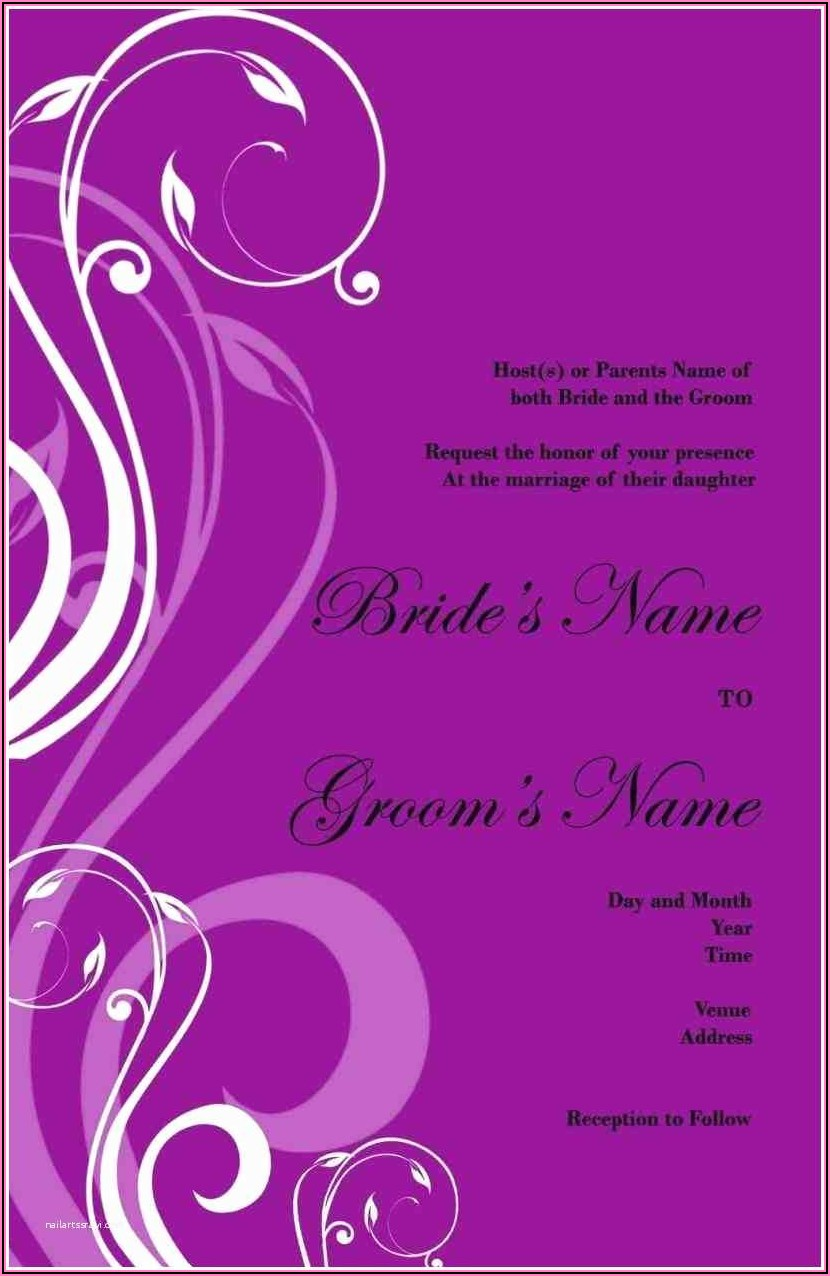 Create Your Own Wedding Invitation Online Free