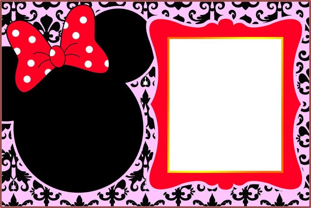 Customizable Downloadable Minnie Mouse Invitation Template