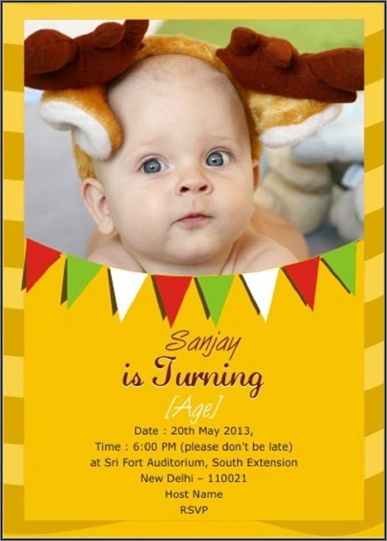 Customized Birthday Invitation Cards Online Free India