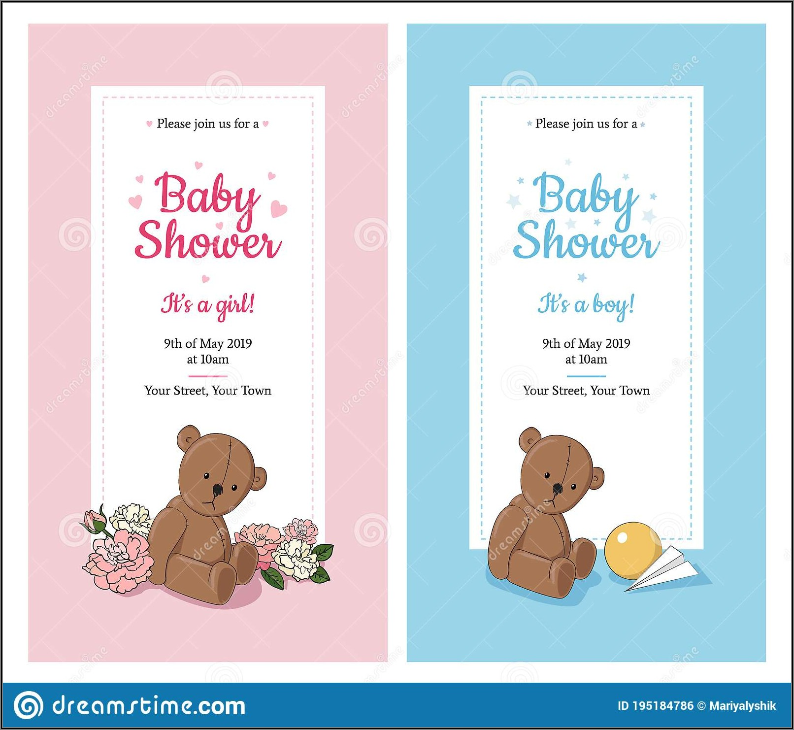 Cute Girl Baby Shower Invitations