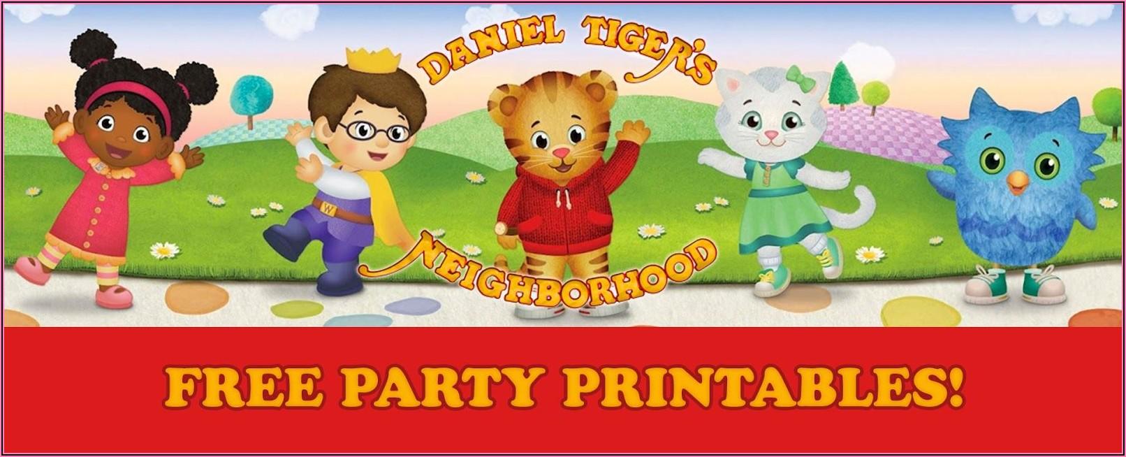 Daniel Tiger Birthday Invitations Free