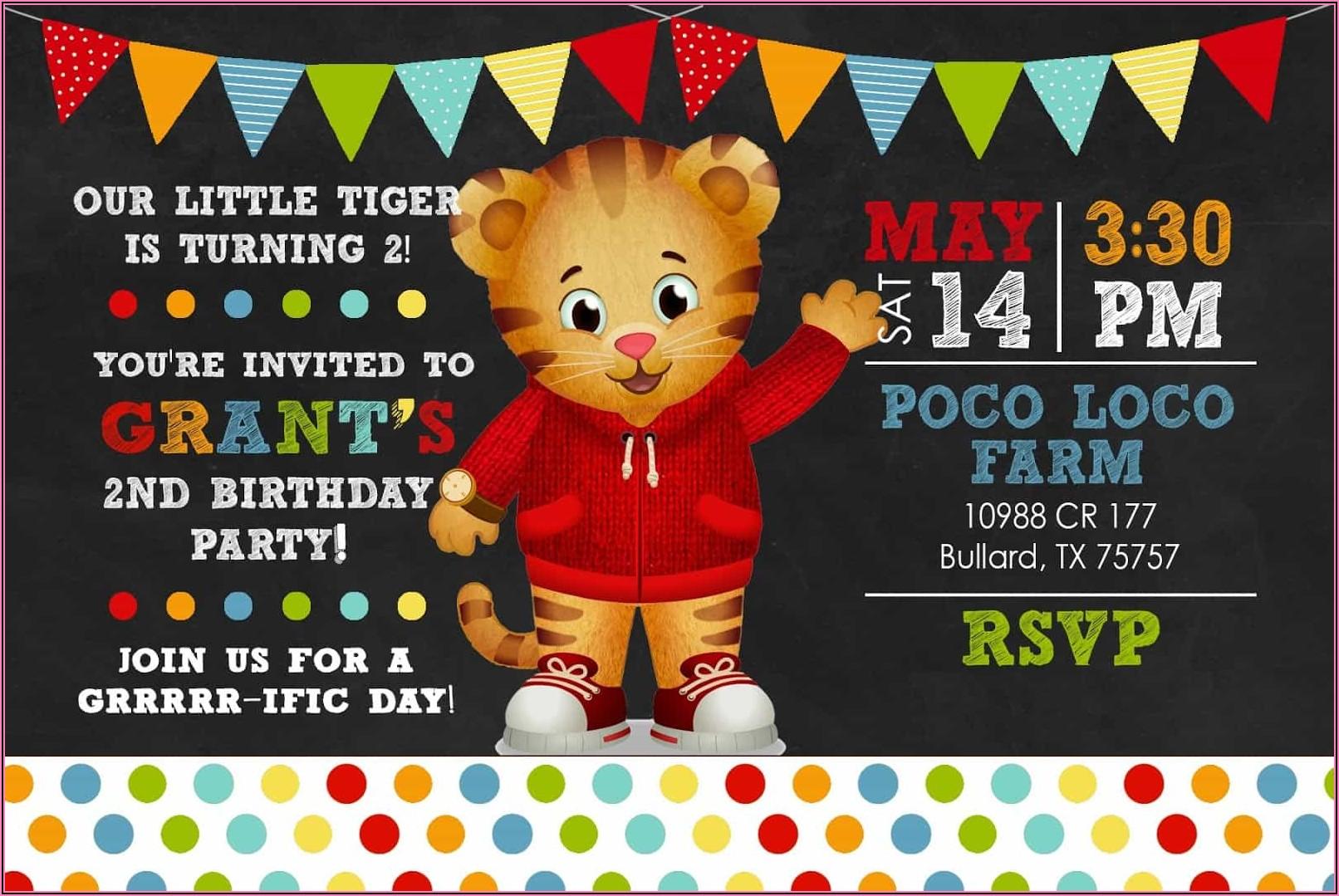 Daniel Tiger Birthday Invitations Online
