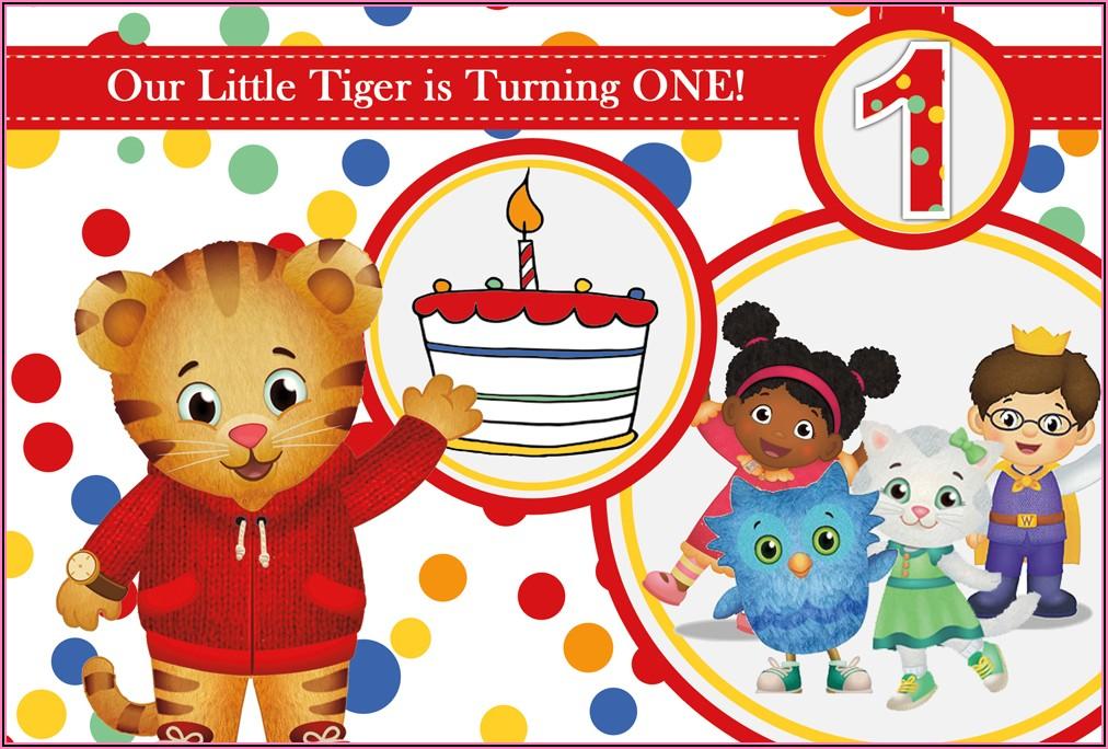 Daniel Tiger Birthday Party Invites