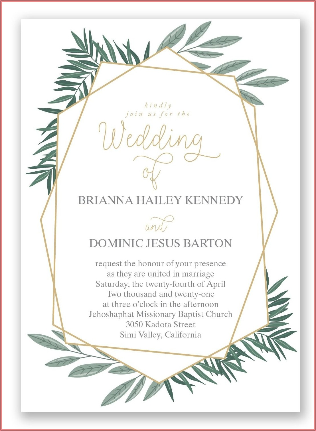 David's Bridal Invitations