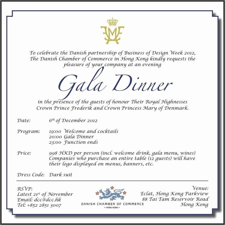 Dinner Invitation Wording Email