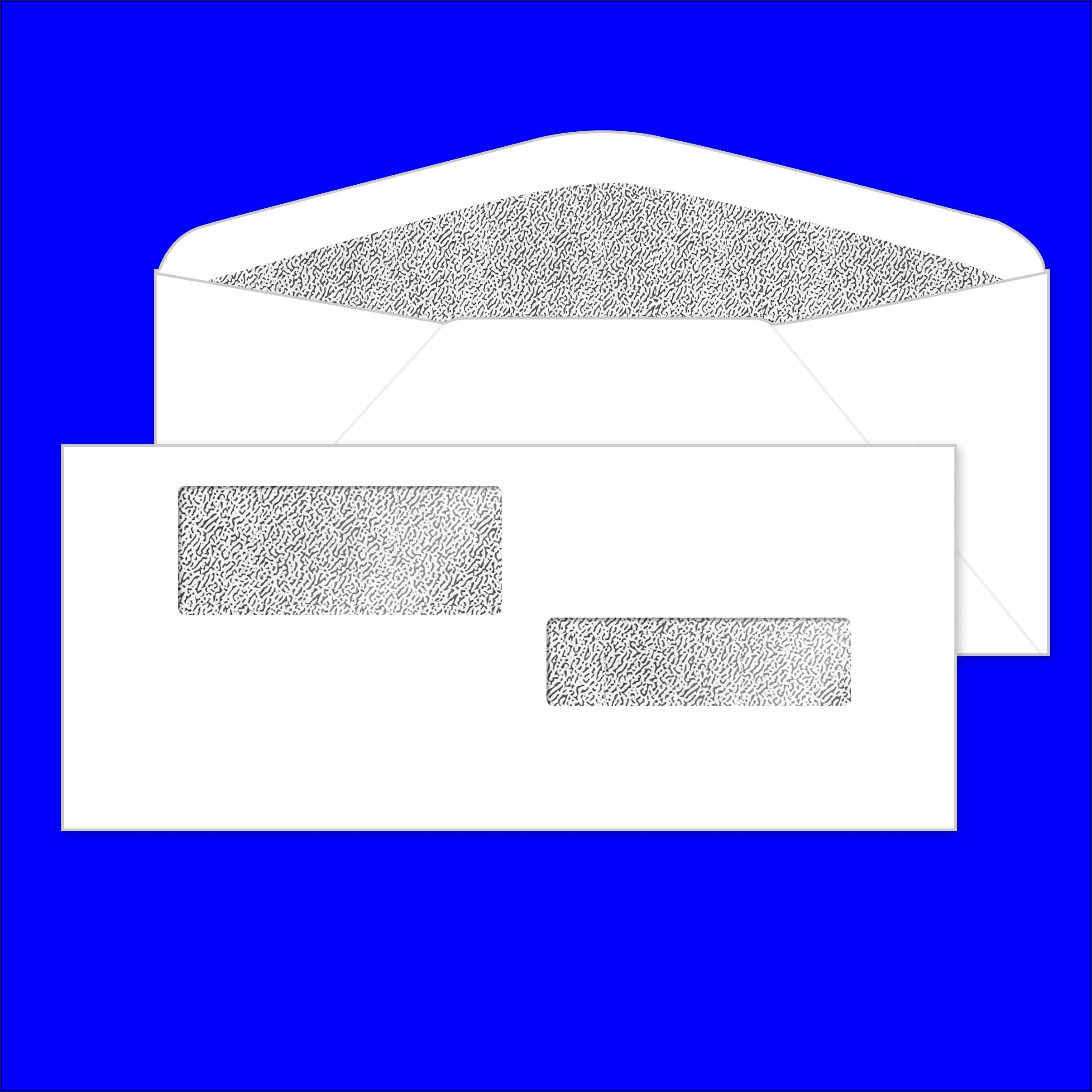 Double Window Envelopes #10 (4 18 X 9 12 )