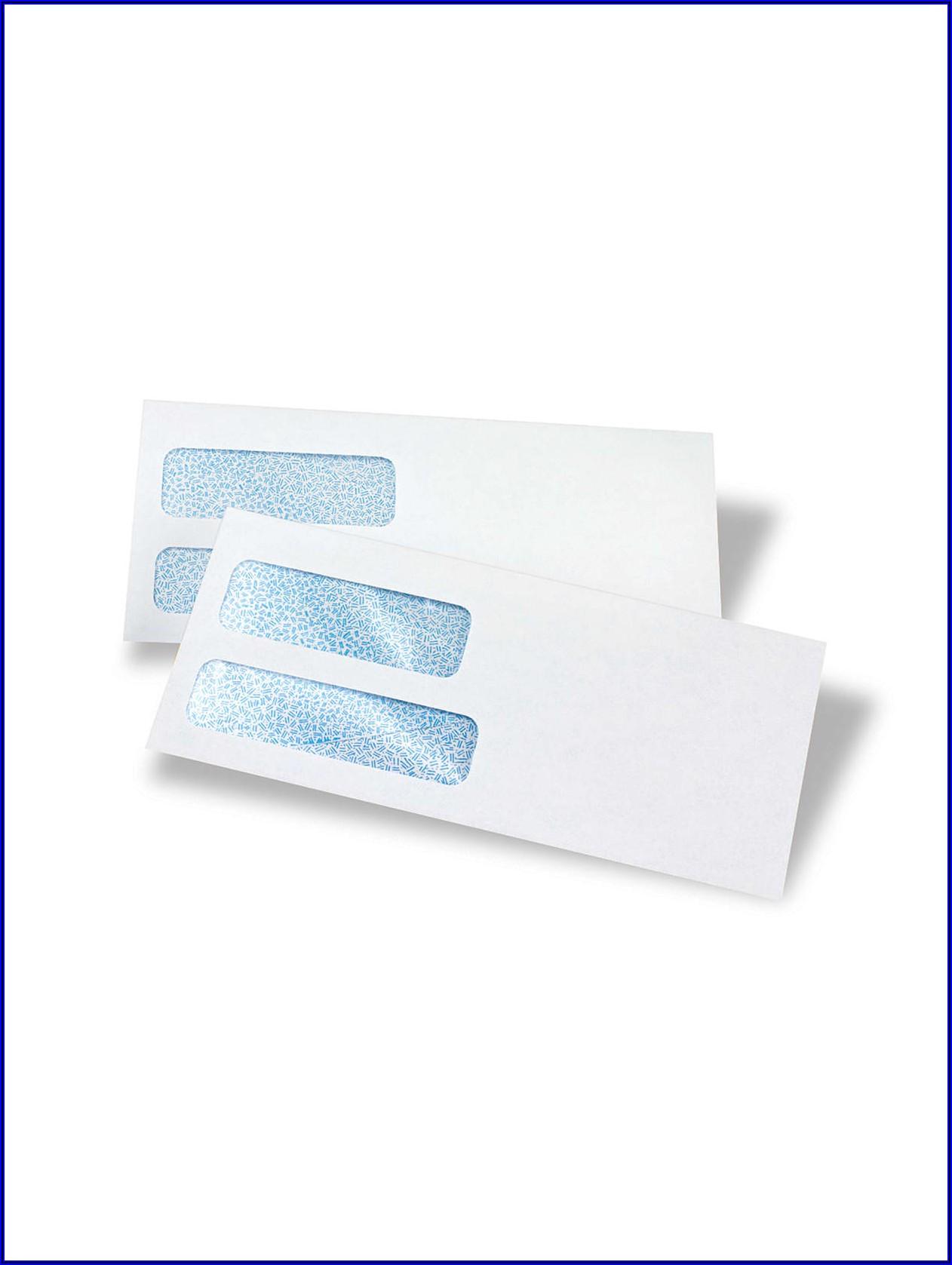 Double Window Envelopes #10 Template