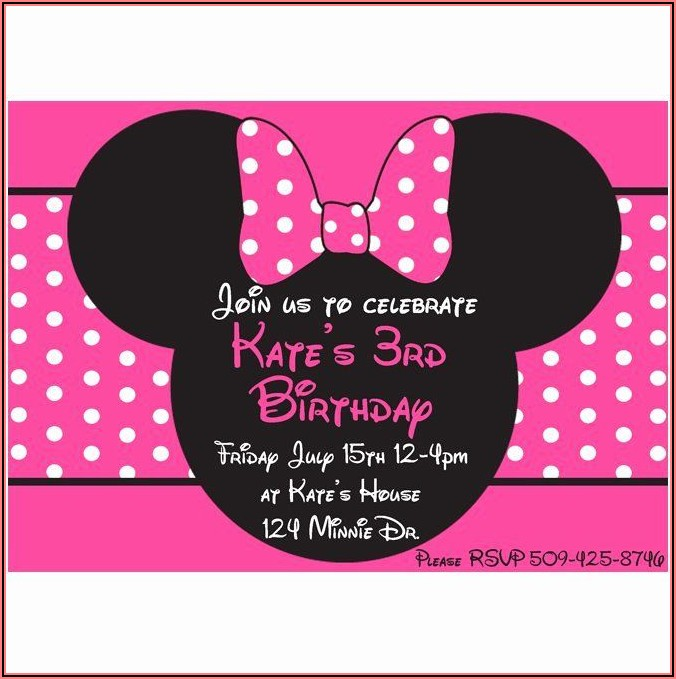 Downloadable Minnie Mouse Invitation Template