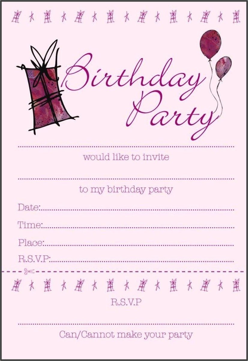 Editable 13th Birthday Invitations Templates Free