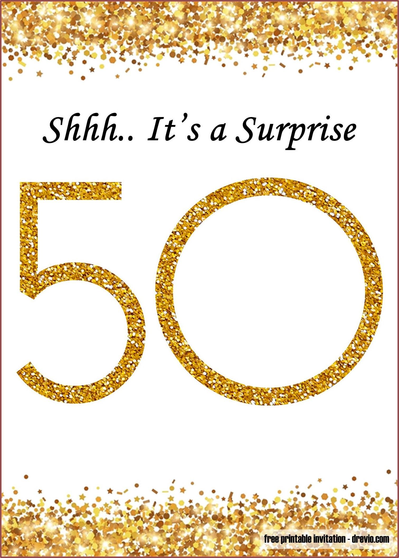 Editable 50th Birthday Invitation Templates Microsoft Word