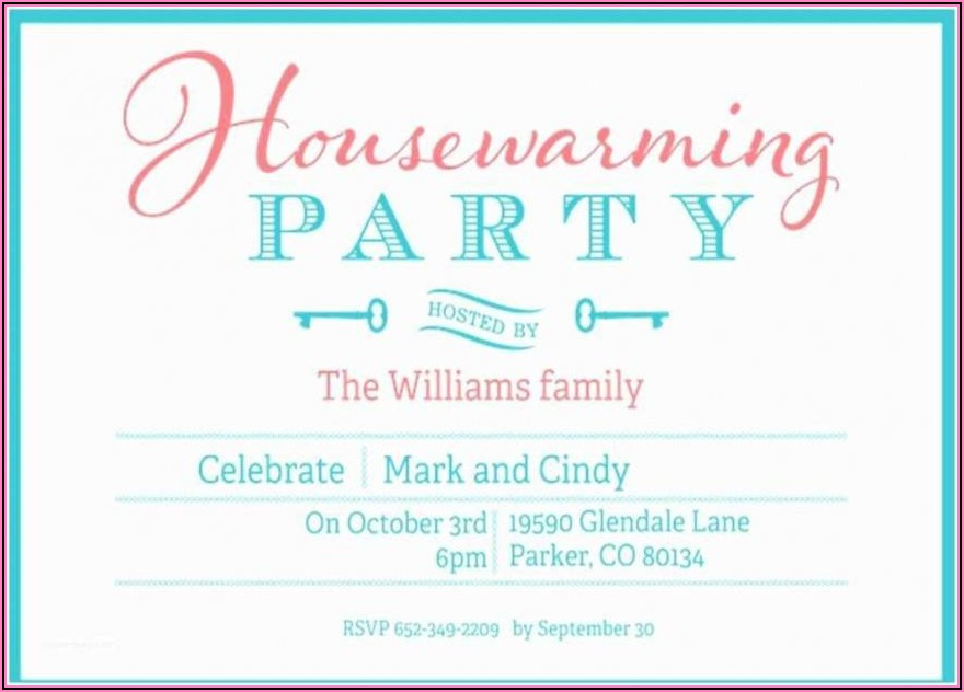 Editable Housewarming Invitation Template Free