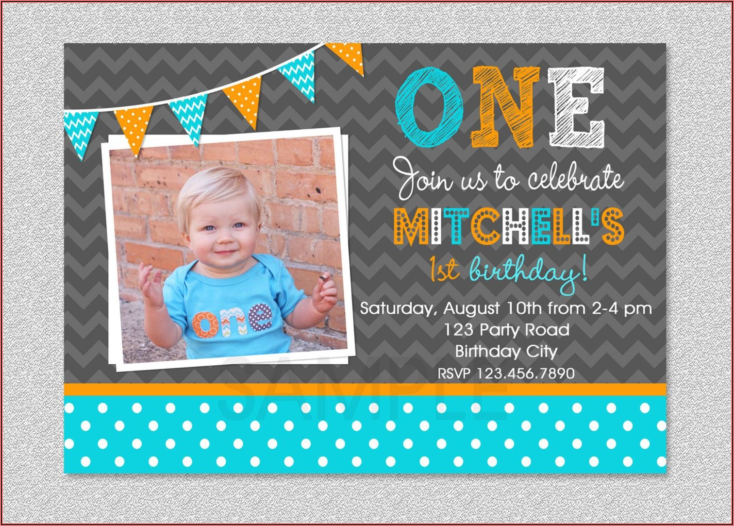 Etsy 1st Birthday Invitations Boy