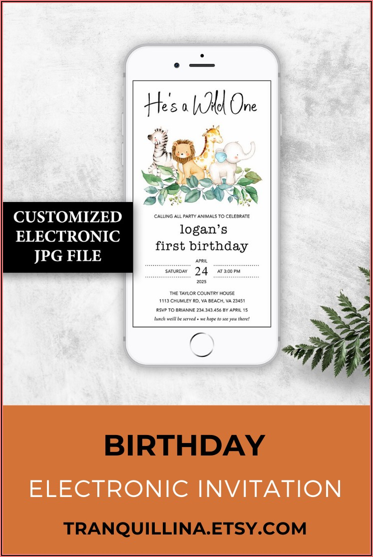 Etsy Birthday Invitations Boy