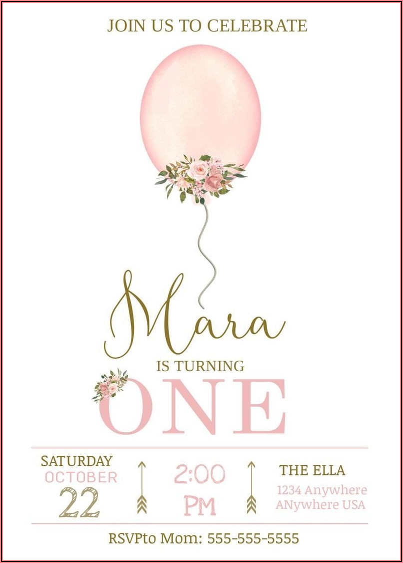 Etsy Birthday Invitations Girl