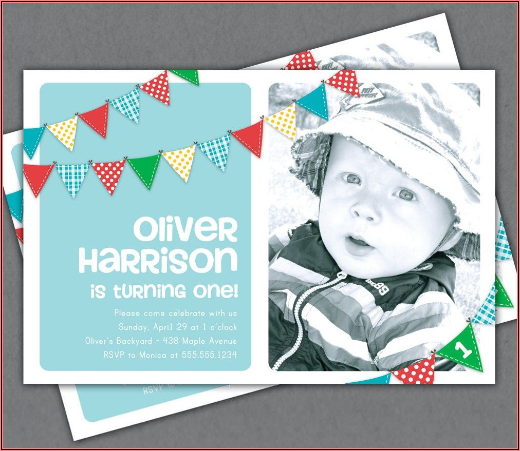 Etsy First Birthday Invitations Boy