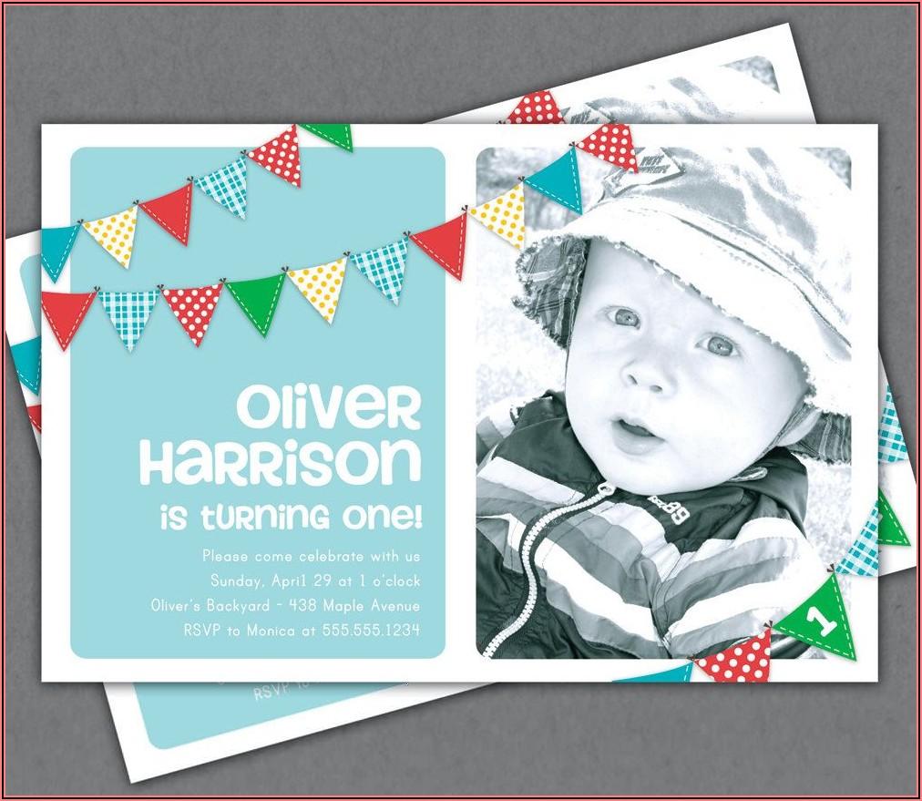 Etsy First Birthday Invitations Boy