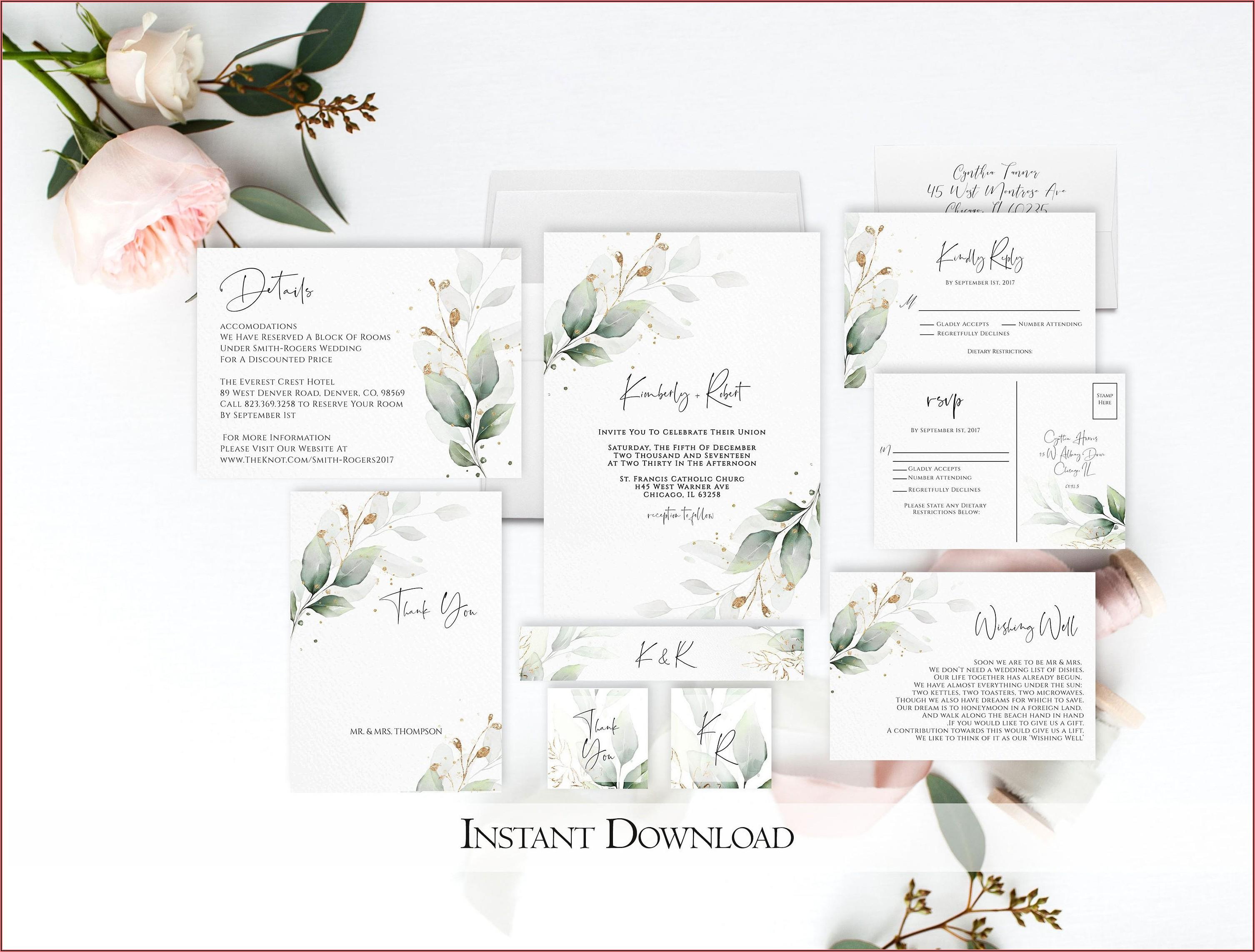 Etsy Wedding Invitation Printable