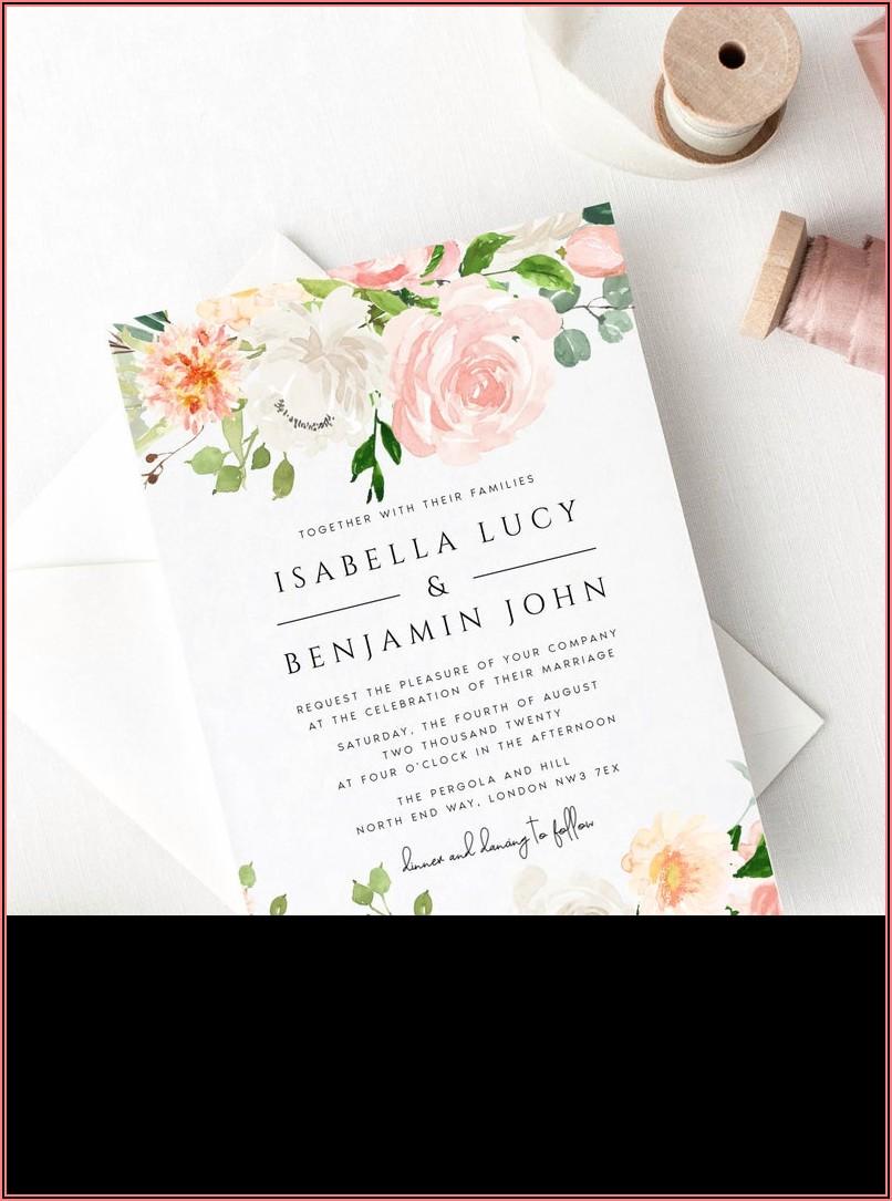 Etsy Wedding Invitation Template Download