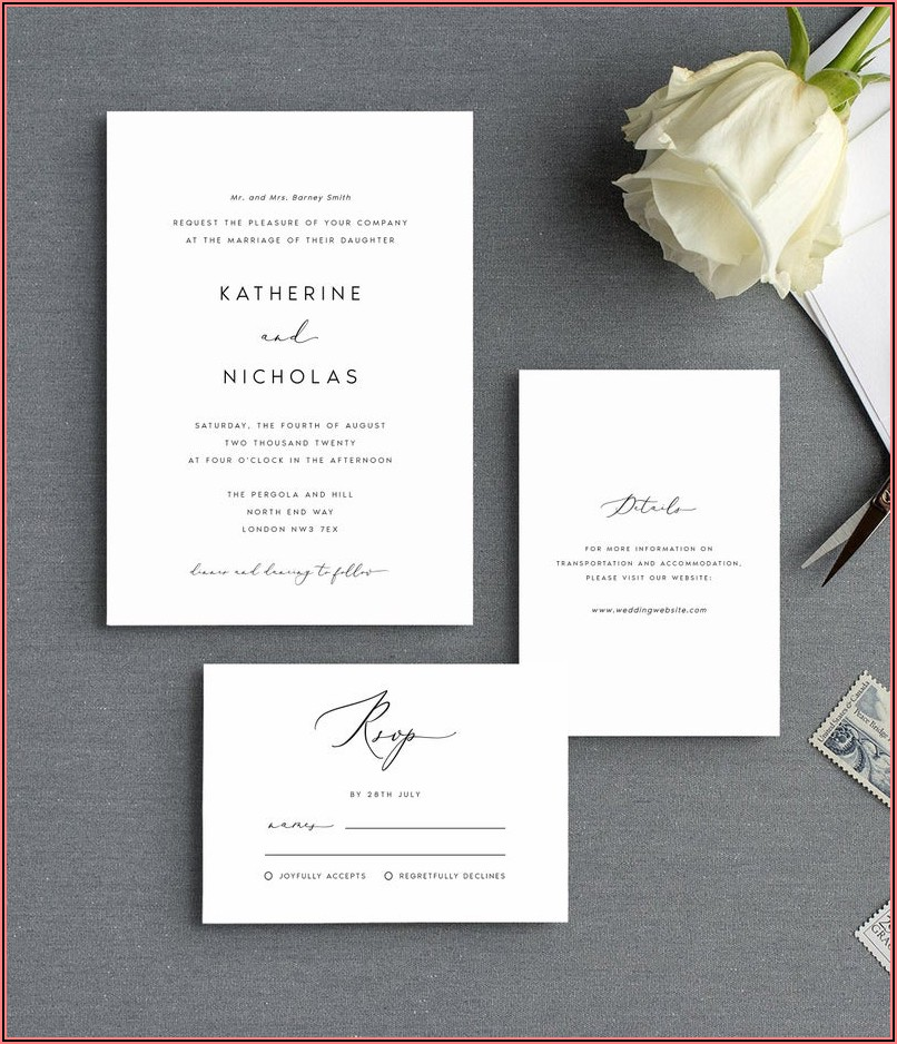 Etsy Wedding Invitations Templates
