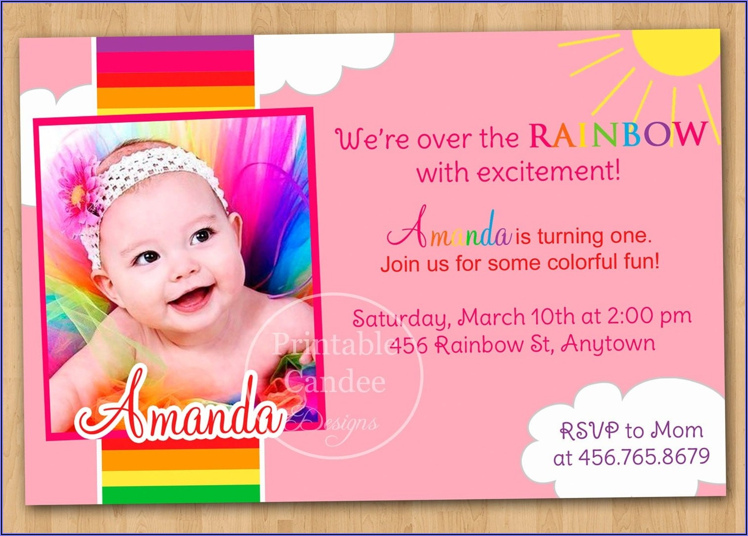 First Birthday Luau Invitation Template