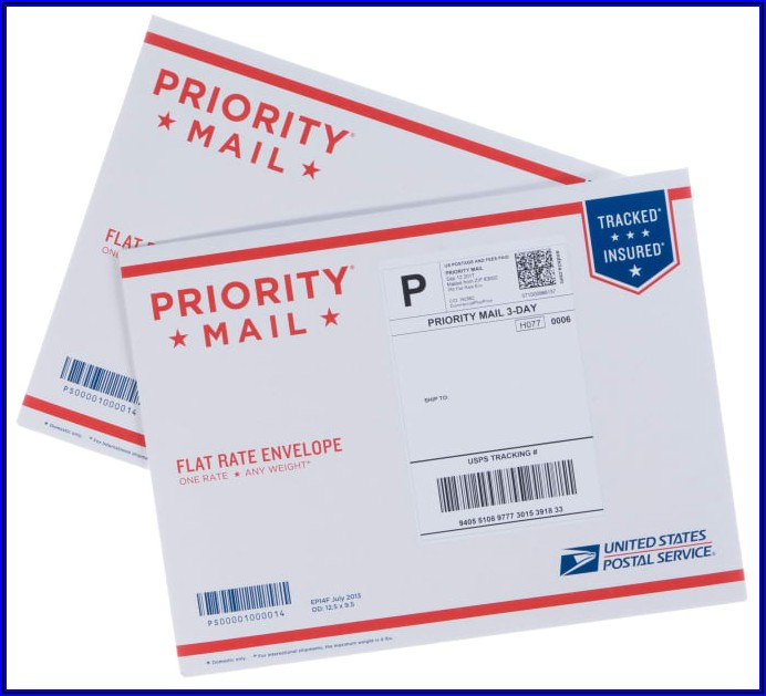 Flat Rate Envelope Shipping Label