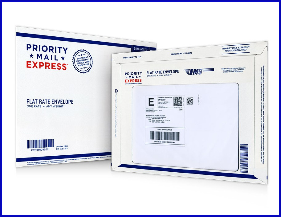 Flat Rate Mailing Envelope Stamps