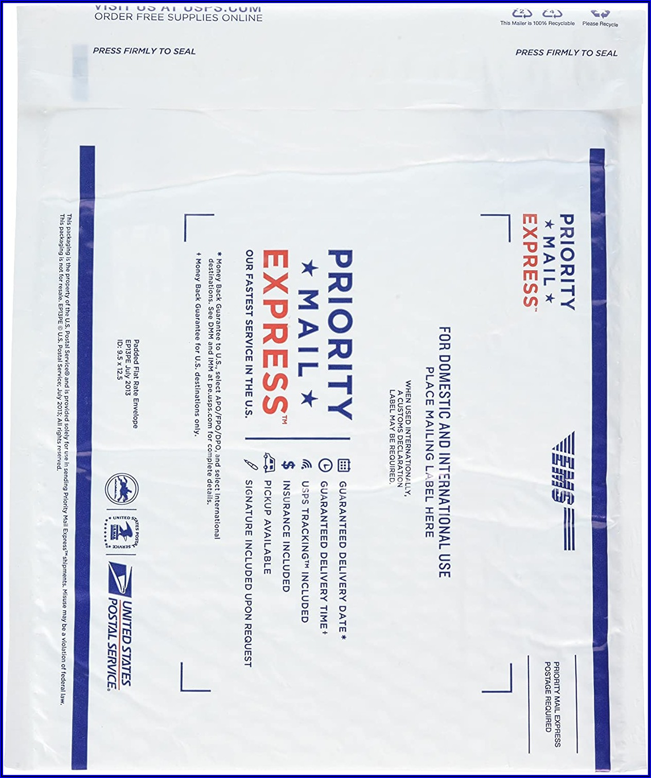 Flat Rate Priority Mail Envelope Usps