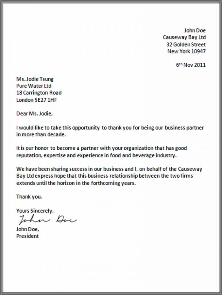 Formal Dinner Invitation Letter Sample