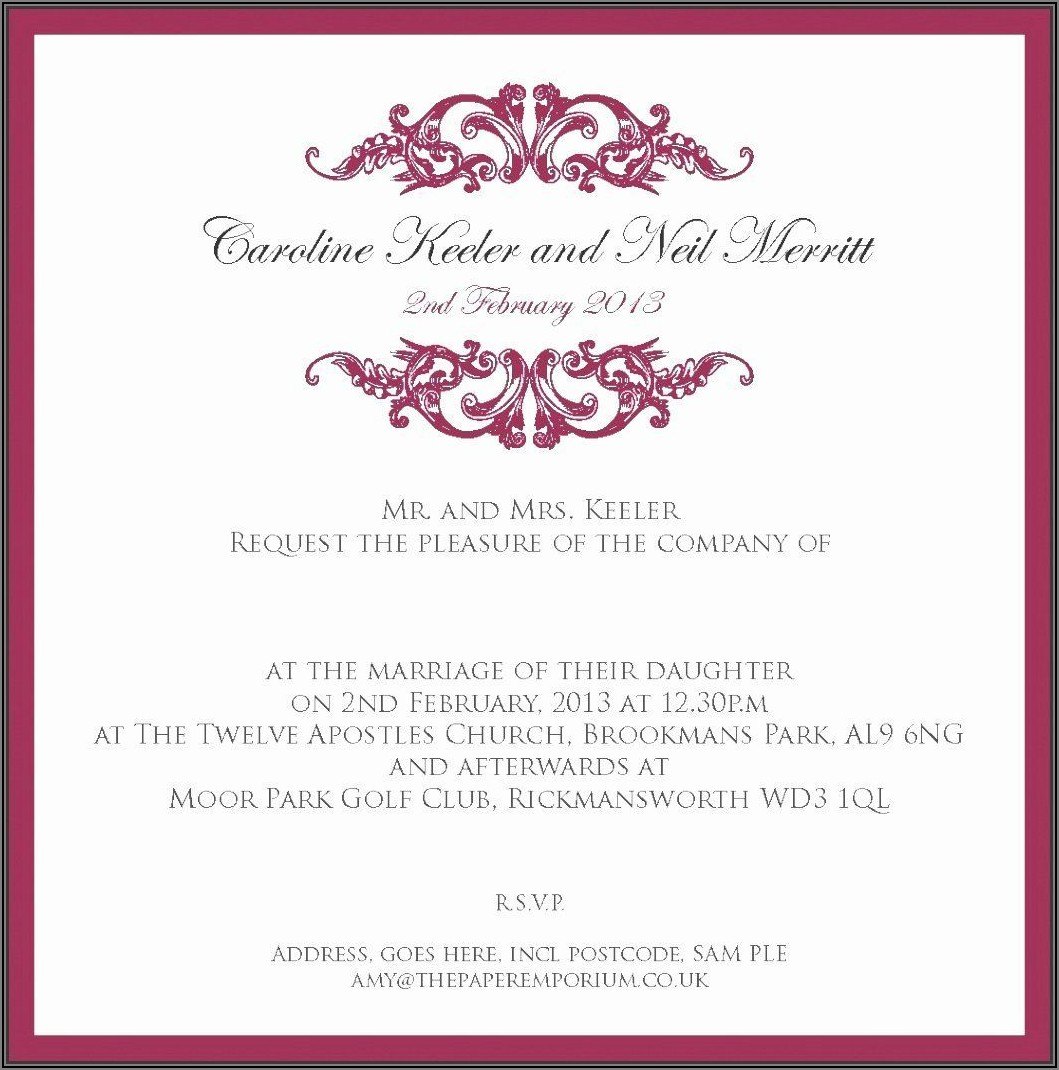 Formal Dinner Invitation Wording Uk