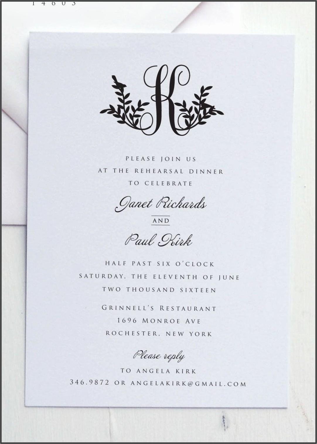 Formal Dinner Invitation Wording