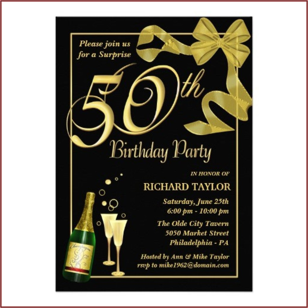 Free 50th Birthday Invitation Templates For Him