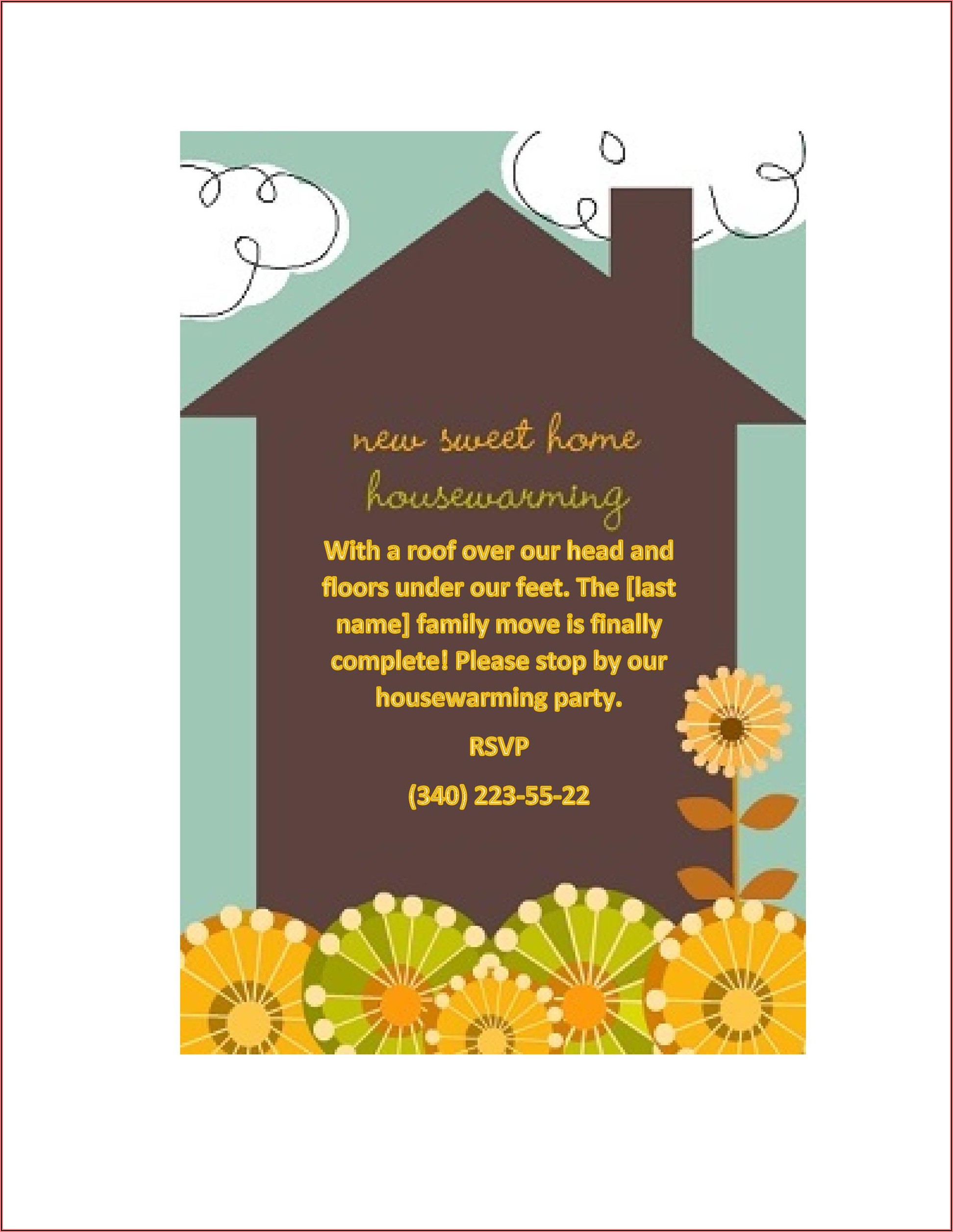 Free Download Housewarming Invitation Template