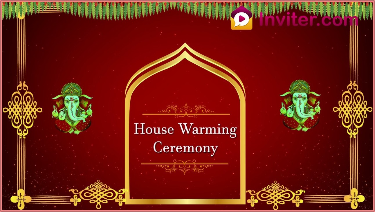 Free Editable Housewarming Invitations Indian