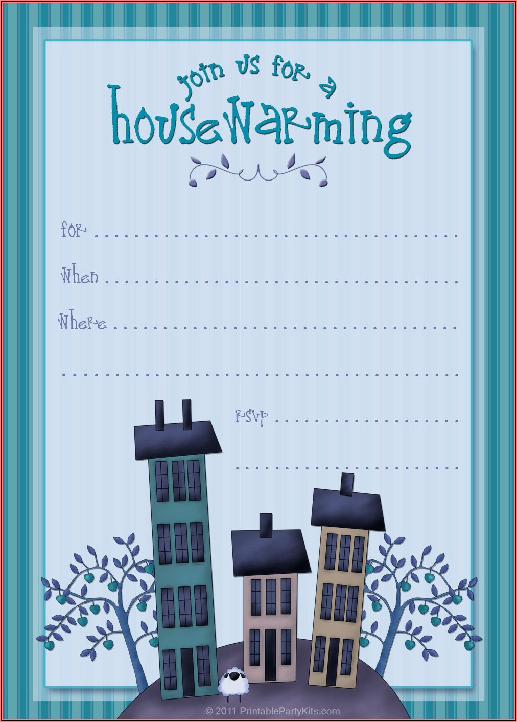 Free Editable Housewarming Invitations