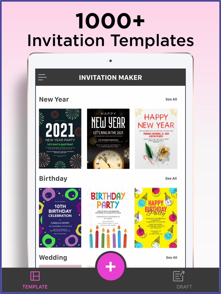 Free Invitation Card Design App