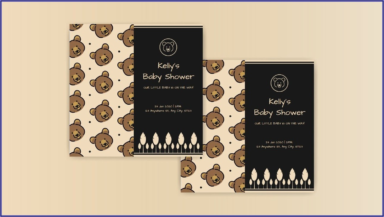 Free Invitation Card Design For Baby Shower