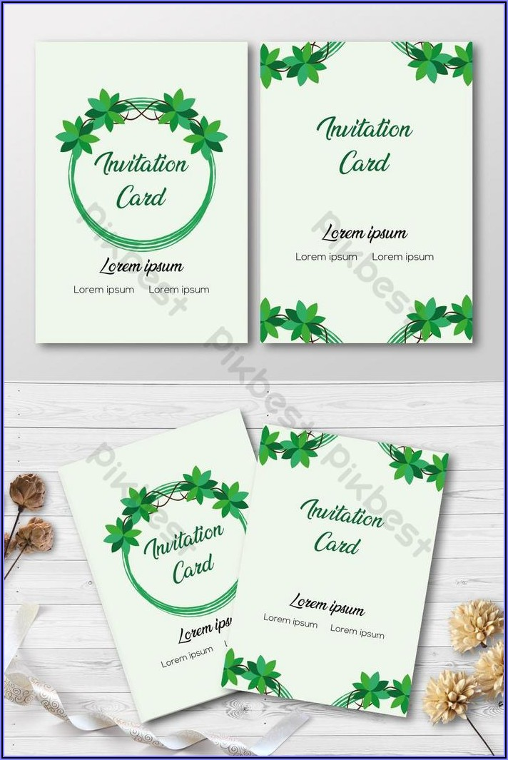 Free Invitation Card Design Template
