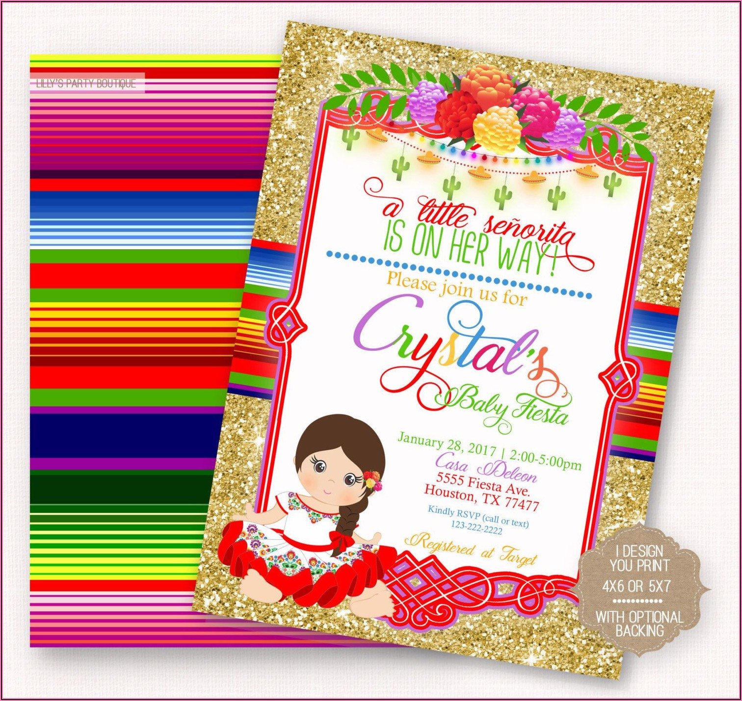 Free Mexican Fiesta Baby Shower Invitation Template