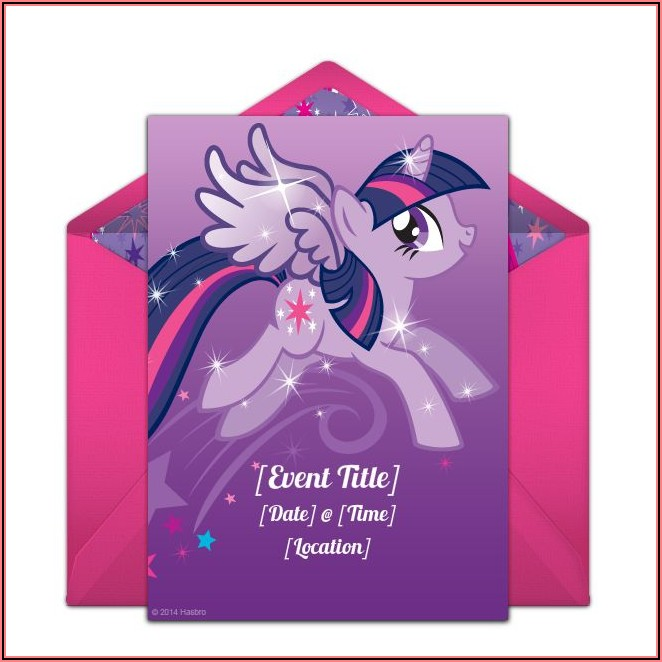 Free My Little Pony Birthday Invitations