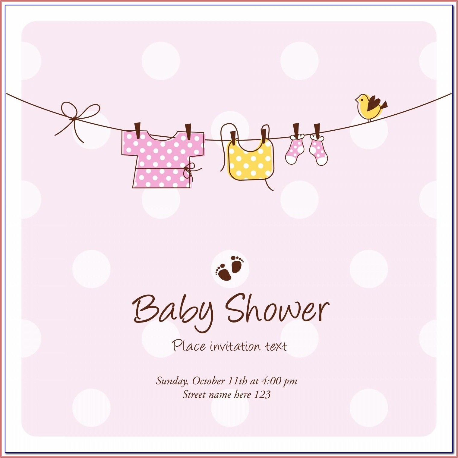 Free Online Invitation Card Design For Baby Shower