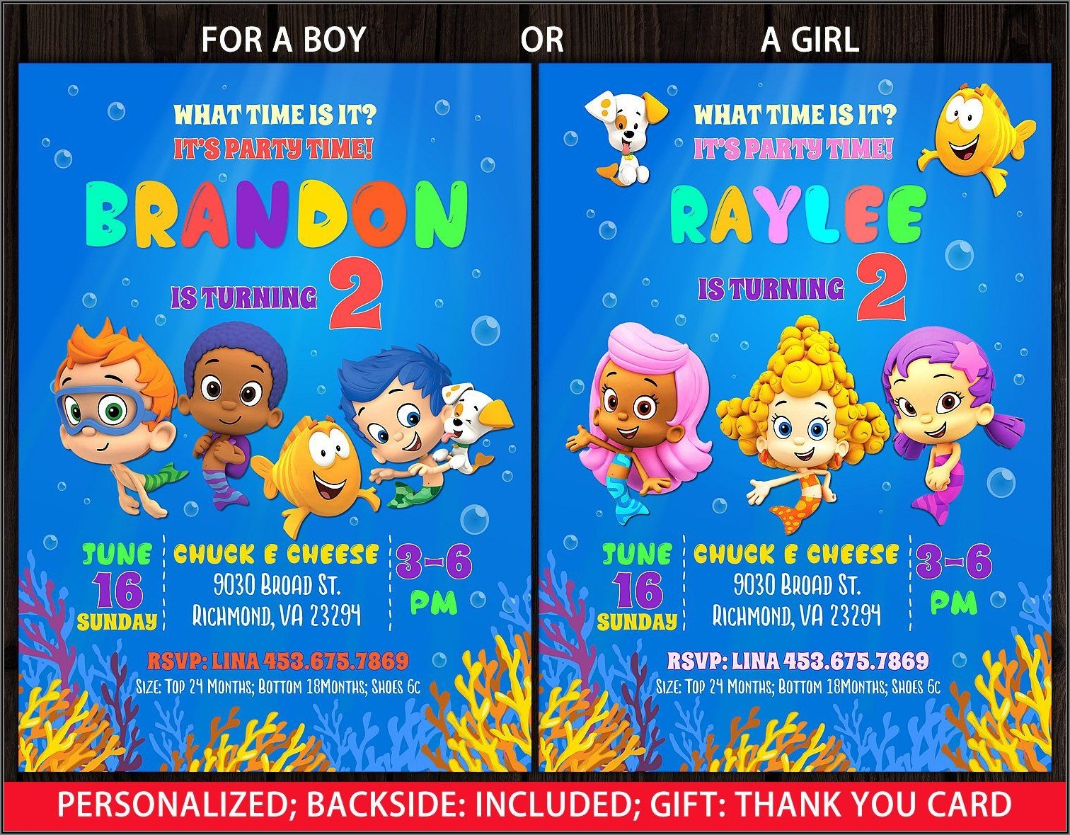Free Printable Bubble Guppies Birthday Invitations